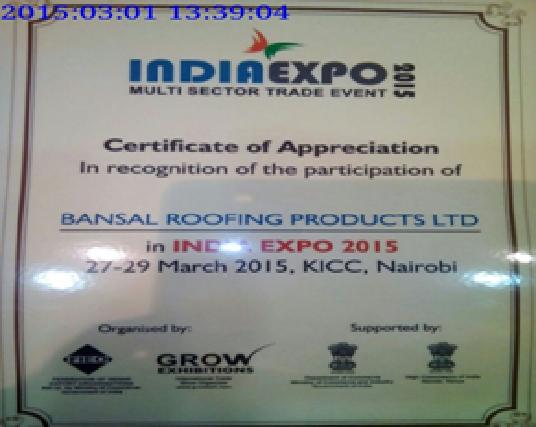India Expo at Nairobi, Kenya in 2015