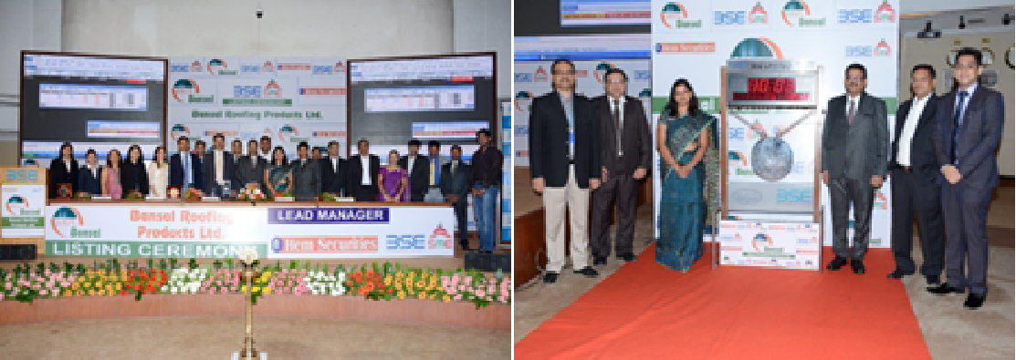 "Initial Public Offereing Ceramony at ""BSE"" at Mumbai-2014"