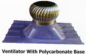 ventilators with Polycarbonate base