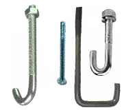 Galvanized & PVC Coated Pipe Bolts